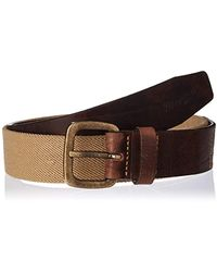Wrangler Canvas Stretch Pebble Sand Belt - Brown