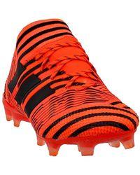 adidas Predator 18.1 FG Soccer Cleat BlackWhiteRed