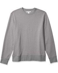 Amazon Essentials Long-sleeve Lightweight French Terry Crewneck Sweatshirt - Gray