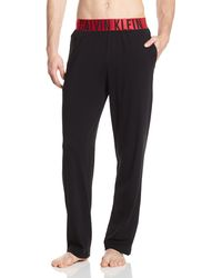 Calvin Klein Underwear Red-Cotton-Yoga Pant Pantalones de Pijama - Negro