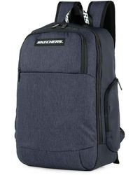 Skechers Casual Backpack Laptop Compartment Inside. Perfect For Everyday Usage. Practical - Blue