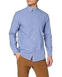 GANT Classic Broadcloth Regular Shirt - Blue