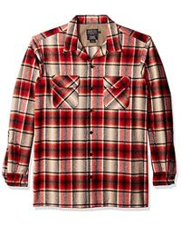 Pendleton - Big & Tall Long Sleeve Board Shirt, Red/black Ombre, Large - Lyst