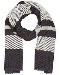 Levi's - Engineered Stripe Wrap Shawl, Black (noir Regular Black), One Size (manufacturer Size: Un) - Lyst