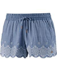 Superdry Shorts Jenna Embroidered Edge Jeans - Blau
