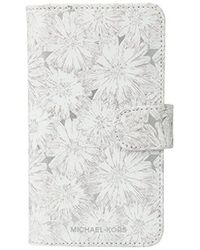 Michael Kors - Flower Metallic Phone Cover With Pocket 8 - Lyst