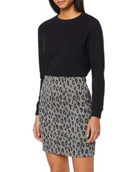 Dorothy Perkins Animal Pull On Mini Skirt - Grey