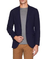 Hackett Navy Stretch Uj Blazer - Blue