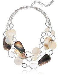 Kenneth Cole - Power Of The Flower Mixed Shell Multi Row Necklace - Lyst