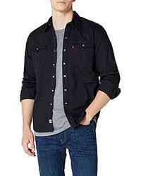 Levi's Barstow Western - Camisa para Hombre - Negro