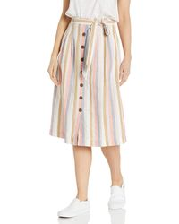 Goodthreads Washed Linen Blend Midi Skirt Skirts - Multicolore