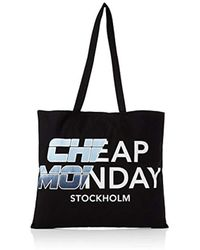 Cheap Monday - Unisex Adults' Rapid Tote Future Canvas And Beach Tote Bag Black (black) - Lyst
