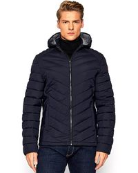 Guess Jacket With Hood - Blue