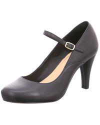 Clarks Dalia Lily S Mary Jane Heels 8 Black