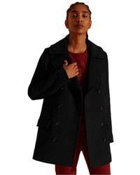 Superdry Wool Pea Coat Chaqueta - Negro