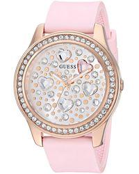 Guess Watches ladies heartbeat orologio Donna Analogico Al quarzo con cinturino in Silicone GW0006L2 - Rosa