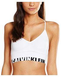 Calvin Klein - Bralette Unlined Longline Multiway Bustier - Lyst