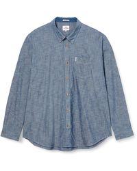Ben Sherman Ls New Chambray Shirt Chemise Casual - Bleu
