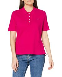 Tommy Hilfiger Th Essential Reg Polo Ss Hemd - Rot