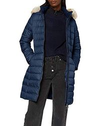 Tommy Hilfiger Tjw Essential Hooded Down Coat Jacket - Blue