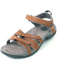 Teva Tirra Leather Sandals - Brown