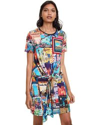 Desigual Postcards Dress Vestido - Multicolor