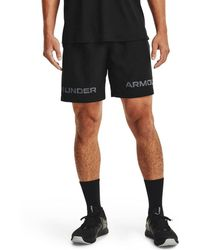 Under Armour S Woven Graphic Wm Athletic Training Shorts - Black