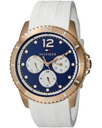 Tommy Hilfiger 1781582 Analog Display Quartz White Watch - Blue
