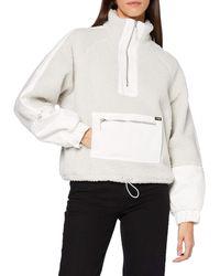 Wrangler S Denim Sherpa POP Overshirt Jacket - Grau