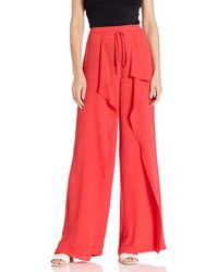 BCBGMAXAZRIA Draped Tie Front Pant - Red