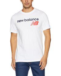New Balance MT 73581 NB Athletics Main Logo Tee - Weiß