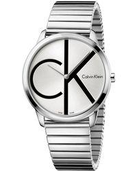 Calvin Klein Quartz Montre avec Bracelet en Acier Inoxydable K3M211Z6 - Multicolore