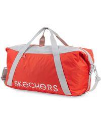 Skechers Sports Bag. Gym Bag With Adjustable Shoulder Strap. Canvas Bag. S919 - Red