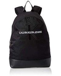 Calvin Klein Monogram Nylon Cp Bp W/O Pocket Rucksack, 15x45x30 cm - Schwarz