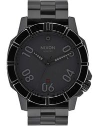 Nixon Quartz Watch With Black Analogue Quartz Stainless Steel A506sw2242 Ranger Imperial Pilot And 00