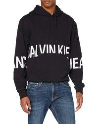 Calvin Klein Blocking Logo Hoodie Maglione - Nero
