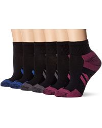 Amazon Essentials 6-pack Performance Cotton Cushioned Athletic Ankle Socks, Black, Shoe Size: 6-9