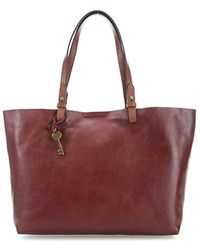 Fossil Rachel Tote Bag Red Brown - Multicolour