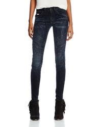G-Star RAW 5620 Custom Mid Skinny Joll Super Stretch Dark Aged Jean - Blue