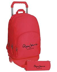 Pepe Jeans Sac à dos double compartiment Harlow Fuchsia - Rouge