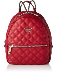 Guess Cessily Backpack Flap Bags - Red