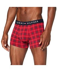 Tommy Hilfiger Trunk Small Check Badehose - Rot