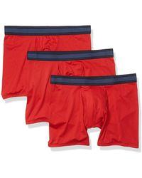 Goodthreads 3-Pack Lightweight Performance Knit Boxer Calzoncillos - Rojo