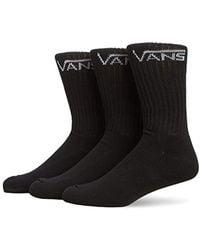 Vans - Classic Crew 3 Pack Calf Socks - Lyst