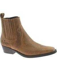 Wrangler Tex Mid Ankle Cowboy Boots WM122981K 10 UK Brown - Marrone