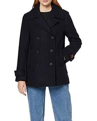 Scotch & Soda Double Breasted Peacoat Giacca Donna - Blu