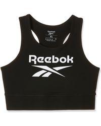 Reebok - RI Bl Cotton Bralette Reggiseno Sportivo - Lyst