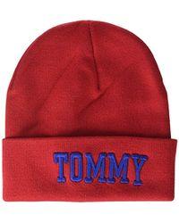 c8f4cada Tommy Hilfiger - Tjw Varsity Beanie Beanie, Red (tommy 614), One Size