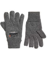 Superdry Orange Label Gloves Graphite Grit Grey Uz4 One Size - Gray