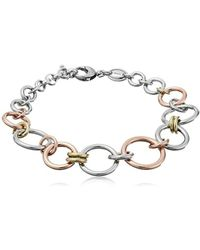 Fossil - Tri-tone Circle Bracelet - Lyst